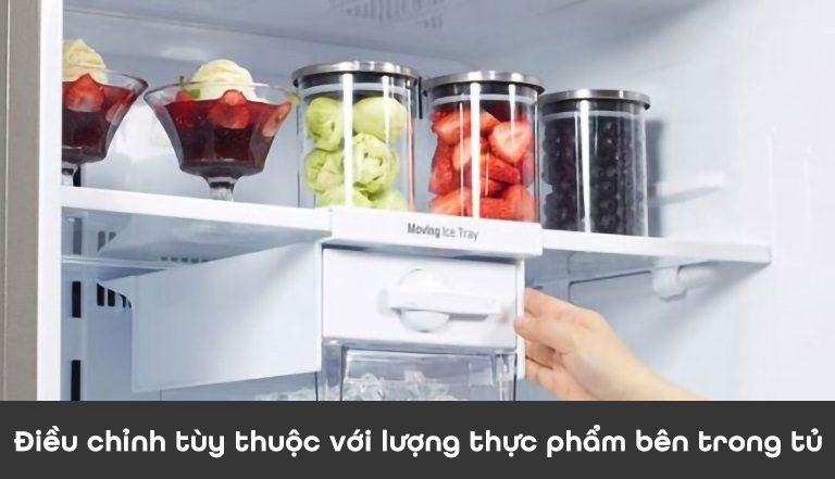 thinh-phat-Điều chỉnh tùy thuộc với lượng thực phẩm bên trong tủ