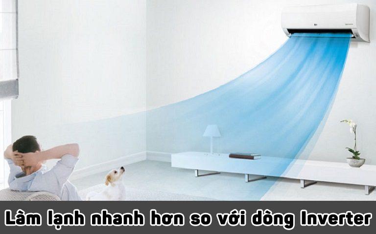 thinh-phat-Làm lạnh nhanh hơn so với dòng Inverter