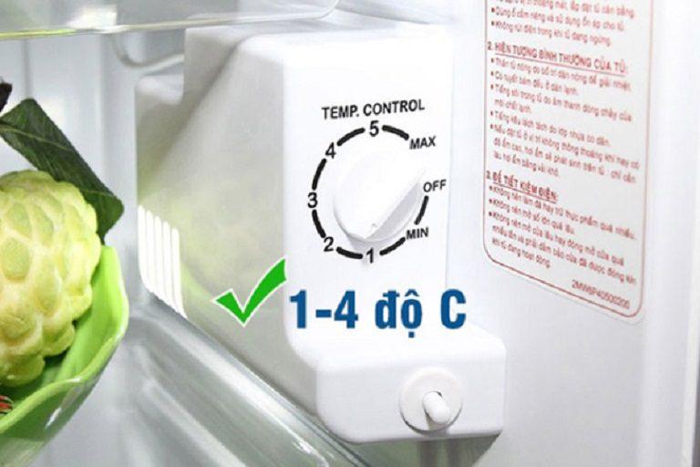 thinh-phat-Nhiệt độ phù hợp cho ngăn rau củ quả