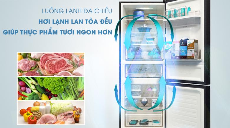 Tủ lạnh Aqua Inverter 288 lít AQR-IW338EB (BS), làm lạnh đa chiều