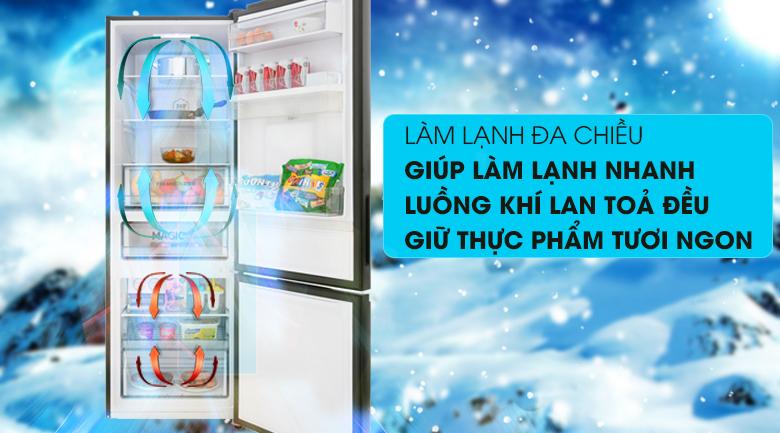 Tủ lạnh Aqua Inverter 320 lít AQR-IW378EB (BS), làm lạnh đa chiều