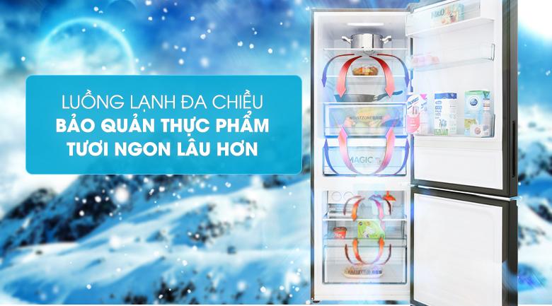 Tủ lạnh Aqua Inverter 288 lít AQR-IG338EB GB, lạnh đa chiều